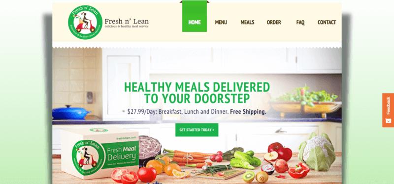 fresh n' lean website screenshot