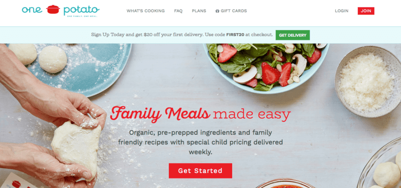14 family size kid friendly meal kit delivery services one potato screenshot showing hands kneading dough over a table along with a fresh salad forumfinder