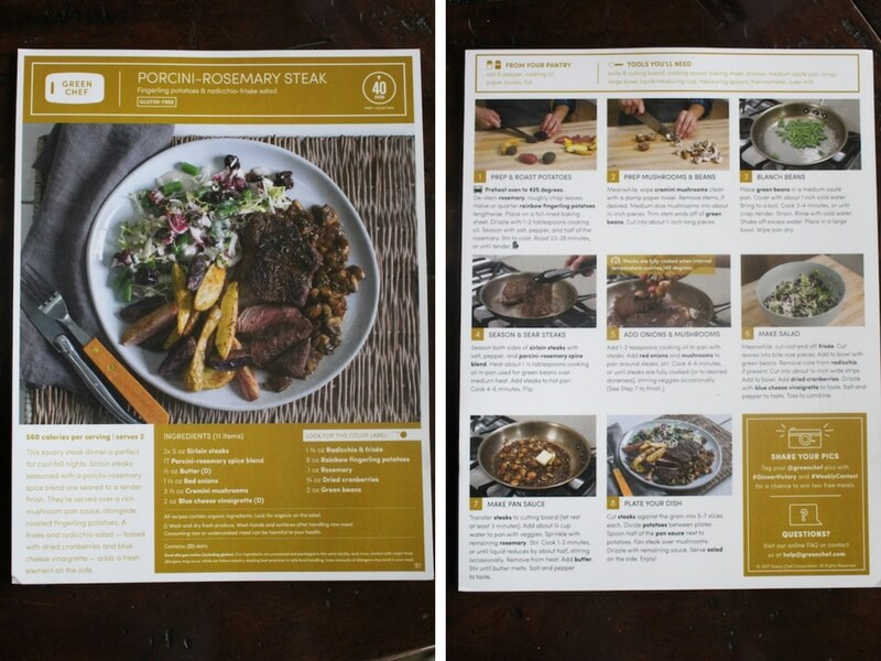 green-chef-recipe-cards-front-back-picture-of-recipe-and-instructions