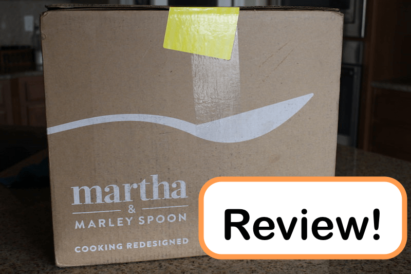 Martha and Marley spoon review of their meal kit delivery service