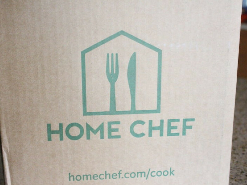 new unopened box of home chef meal kit for this review