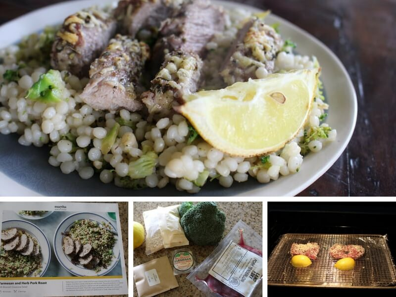 Image of pearl couscous with pork loin final recipe photo