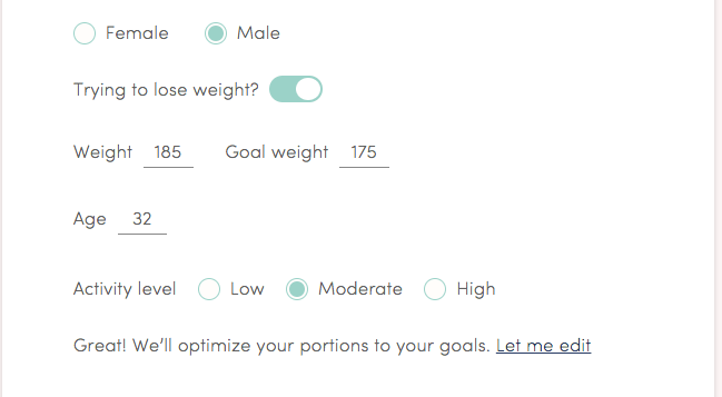 goals questions from platejoy