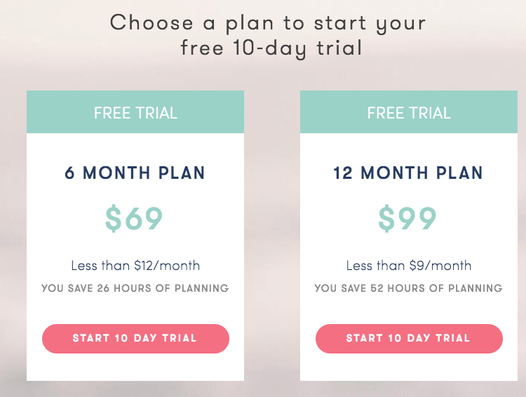platejoy pricing plan $69 for six months or $99 for 12 months