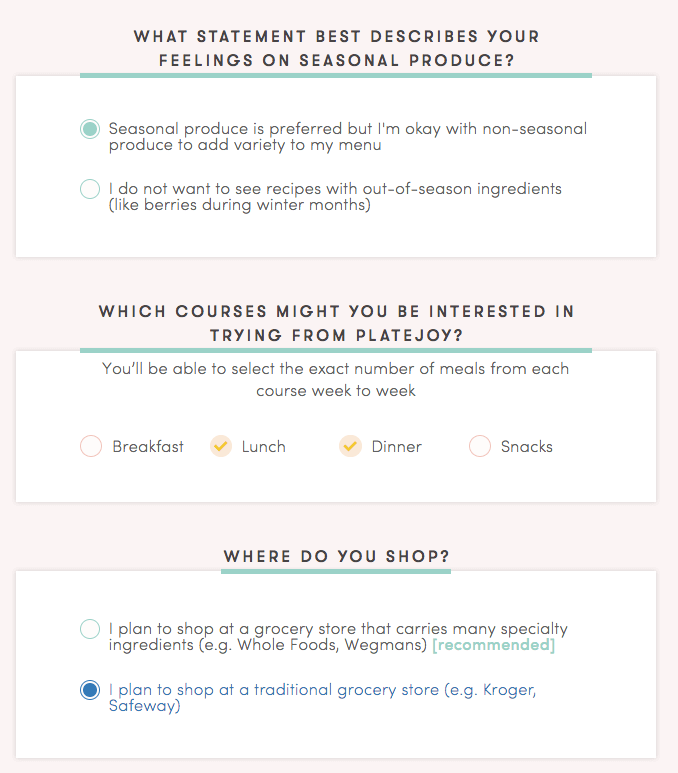 more questions platejoy asks before you sign up