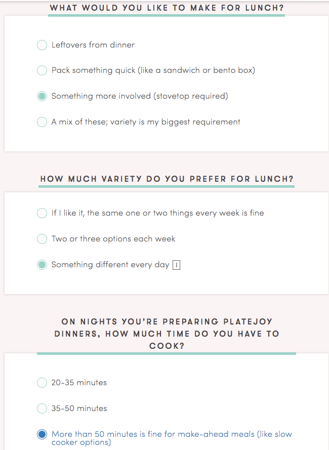 questions platejoy asks before you sign up