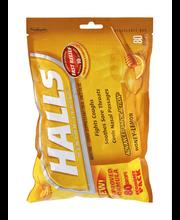 Halls Honey Lemon Cough Suppressant/Oral Anesthetic Menthol D...
