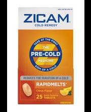 Zicam Cold Remedy Rapidmelts Quick Dissolve Tablets Citrus Fl...