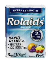 Rolaids Extra Strength Antacid Rolls Assorted Fruit Flavors -...