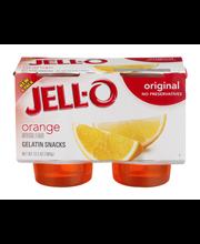 Jell-O® Orange Gelatin Snacks 4 ct Cups
