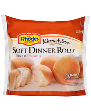 Rhodes Bake N Serv® Warm-N-Serv™ Soft Dinner Rolls 12 ct. Bag