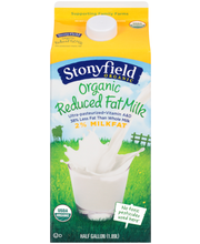 Stonyfield Organic™ Reduced Fat Milk 0.5 gal. Carton