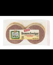 Jones Dairy Farm Braunschweiger Liverwurst with Bacon Added S...