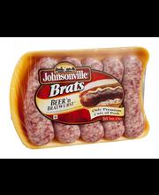 Johnsonville Beer Brats 19oz tray (101309, 101313, 101351)
