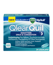 Allergy Relief Vicks QlearQuil Nighttime Sinus & Congestion R...