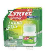 Zyrtec® Allergy 24 Hour 10mg Liquid Gels 25 Ct Carded Pk
