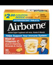 Airborne® Original Zesty Orange Immune Support Supplement 3-1...