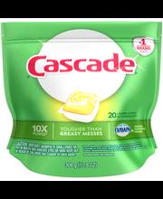 Cascade® Lemon Scent Dishwasher Detergent ActionPacs™ 10.8 oz...