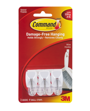 Command Damage-Free Hanging Wire Hooks - 3 CT