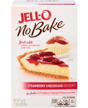 Jell-O® No Bake Strawberry Cheesecake Dessert Mix 19.6 oz. Box