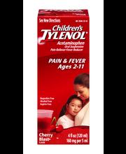 Children's Tylenol® Pain + Fever Ages 2–11 Cherry Flavor Liqu...