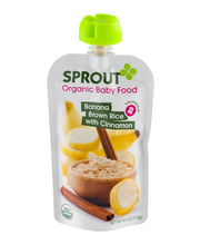 Sprout Organic Baby Food Banana, Brown Rice with Cinnamon