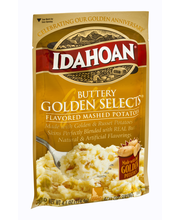 Idahoan® Buttery Golden Selects® Mashed Potatoes 4.1 oz. Pouch