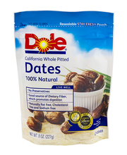 Dole® California Whole Pitted Dates 8 oz. Pouch