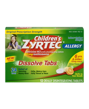 Children's Zyrtec® Allergy Dissolve Tabs™ 12 ct. Box