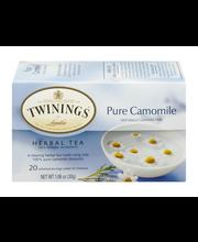 Twinings of London® Pure Camomile Herbal Tea 20 ct Box