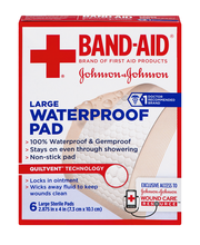 Johnson & Johnson First Aid® 2.875 in. x 4 in. Large Waterpro...