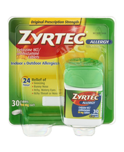Zyrtec® Allergy 24 Hour 10mg Tablets 30 Ct Carded Pk
