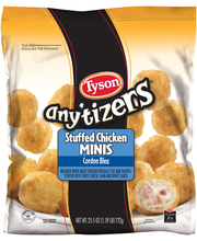 Tyson® Any'tizers® Stuffed Chicken Cordon Bleu Minis 25.5 oz....