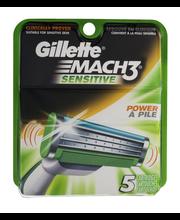 Gillette® Mach3® Sensitive Razor Catridges 5 ct Pack