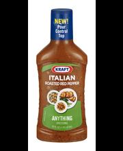 Kraft Roasted Red Pepper Italian Dressing 16 fl. oz. Bottle
