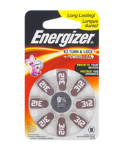 Energizer 312 EZ Turn & Lock +Power Seal Hearing Aid Batterie...