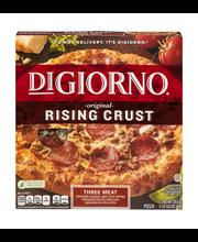 DIGIORNO Original Rising Crust Three Meat Frozen Pizza 29.8 o...