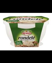 President Rondele Gourmet Spreadable Cheese Garlic & Herbs