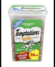 Temptations® Seafood Medley Flavor Treats for Cats 16 oz. Tub