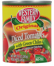 Wf Tomato Diced W/Green Chiles
