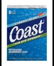 Coast® Classic Scent Refreshing Deodorant Soap 8-4 oz. Bars