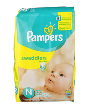 Pampers Swaddlers Size N Diapers 32 ct Pack