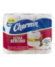 Charmin® Ultra Strong™ 2-Ply Mega Toilet Paper Rolls 9 ct Pack