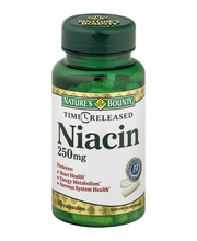 Nature's Bounty Time Released Dietary Capsules Niacin 250 mg ...
