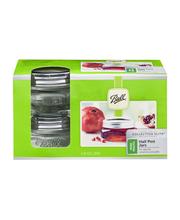 Ball Half Pint Jars Collection Elite Design Series Wide Mouth
