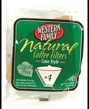 Wf #4 Nat Cone Coffee Filter