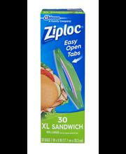 Ziploc® Sandwich XL Bags 30 ct. Box