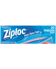 Ziploc® Double Zipper Pint Freezer Bags 20 ct Box