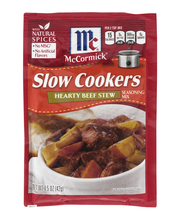 McCormick® Slow Cookers Hearty Beef Stew Seasoning Mix, 1.5 oz