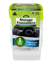 Arrow Storage Containers for Freezer (1 Pint) - 5 CT